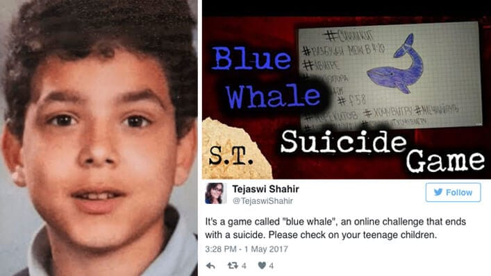 Kids Online Game Blue Whale Warning